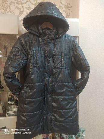 Удлинённая зимняя куртка для девочки- подростка