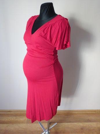 Czerwona sukienka ciążowa Święta