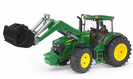 Bruder Traktor John Deere 7930 z ładowaczem