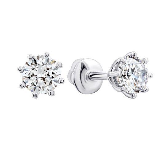 Женские серебряные серьги серебро пусеты серебряный век украшение
