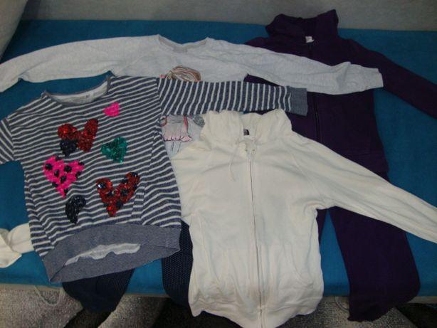Zestaw 4 sztuk bluza 2 pary spodni 128-134