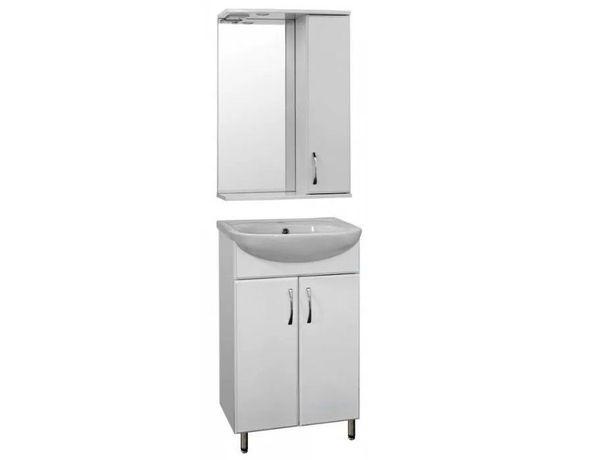 Набор комплект мебели в ванную комнату: тумба с умывальником и зеркало