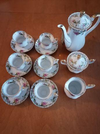 Serwis kawowy Iwona Chodzież, porcelana stan idealny!