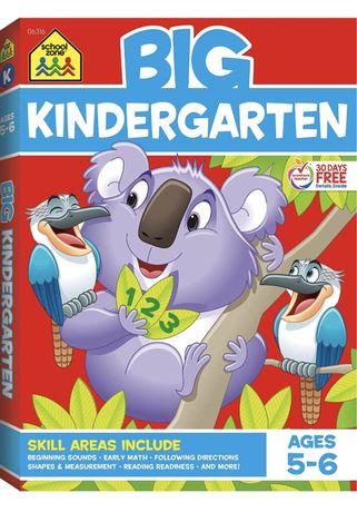 School Zone - Big Kindergarten Workbook . Изучение английского для дет