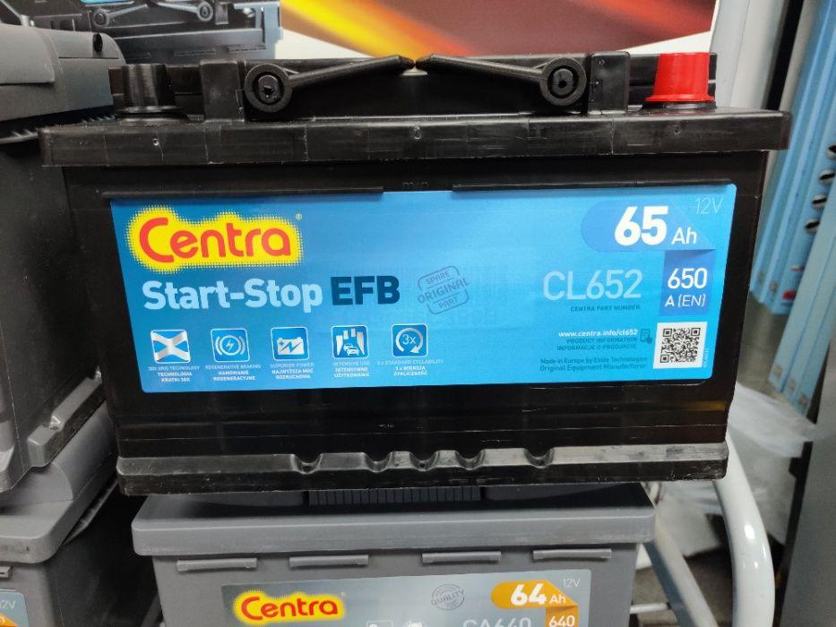 Akumulator Centra Start-Stop EFB CL652 12V 65Ah 650A P+ Kraków EL652 Kraków - image 1