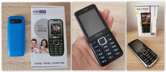 3 szt. telefon komórkowy MAXTON M-55 + MYPHONE 6310 + MaxCom MM135