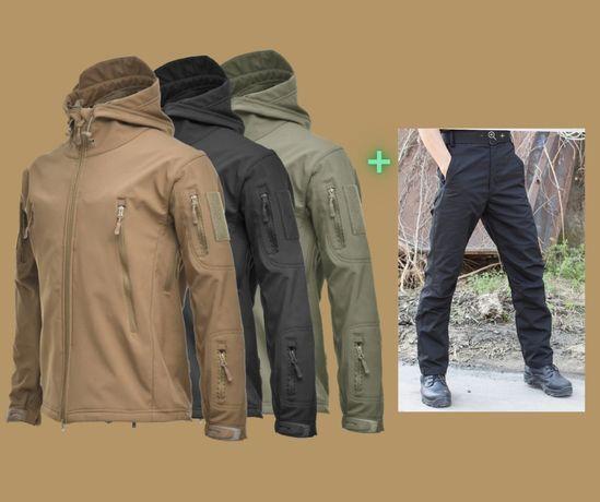 Тактическая куртка Soft Shell + Тактические штани Набор
