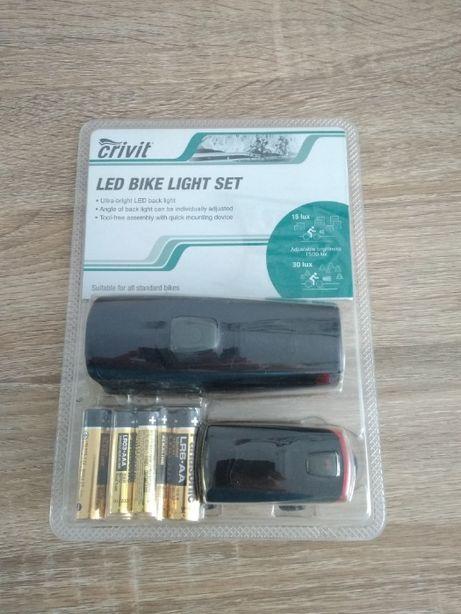 Komplet lampek rowerowych LED w zestawie z bateriami - okazja, zobacz!