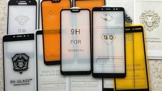 Защитные стекла на разные телефоны  iPhone, Samsung, Xiaomi, Huawei