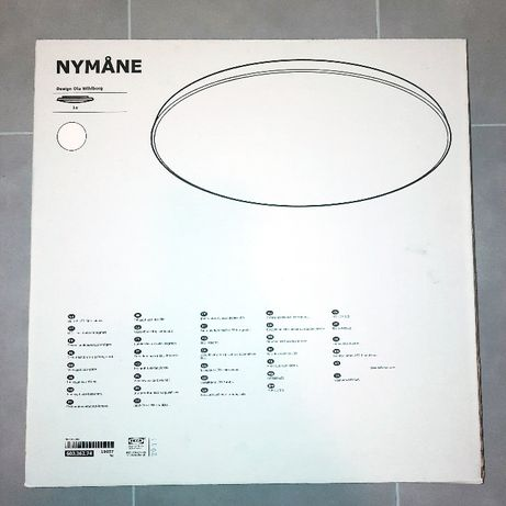 IKEA NYMÅNE plafon led biały NOWY
