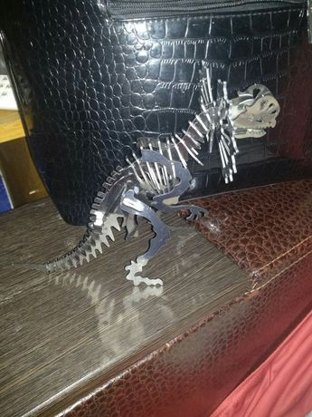 Металлический 3 д конструктор, пазл Скелет динозавра