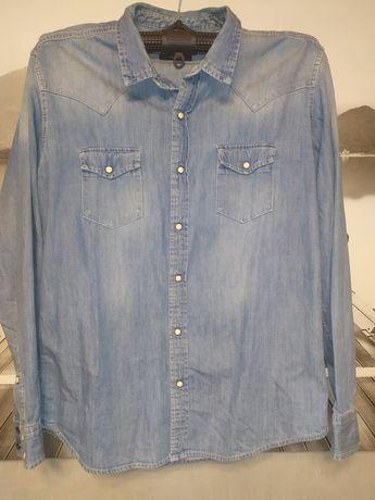Джинсовая мужская рубашка
