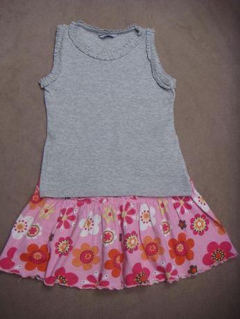 nowa szara bluzka / koszulka dla dziewczynki 5 - 6 lat