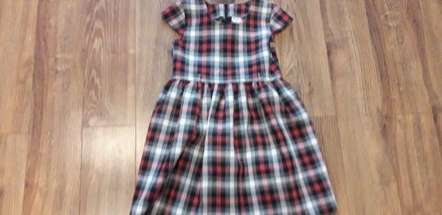 Sukienka w kratke rozmiar 116