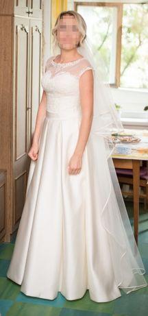 Свадебное платье айвори ivory атласное