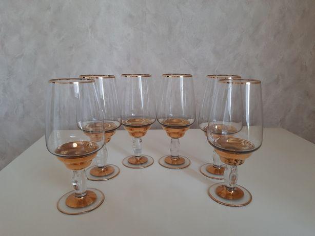 Набор бокалов( 6 штук)Чехия(Богемское стекло)