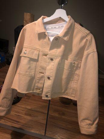 Nowa jeansowa kurtka katana zara pomarańczowa 36 S M