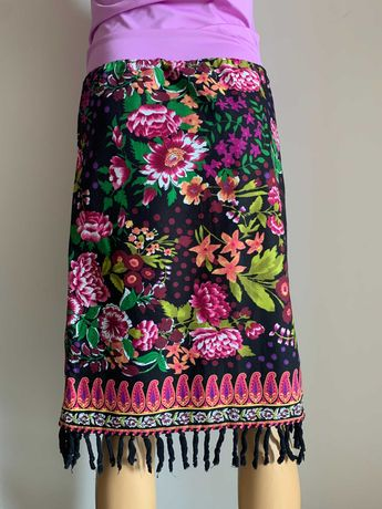 Летняя юбка в яркий принт. бренд max&co (max mara) размер с-м.