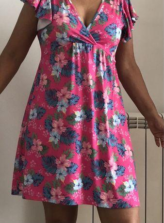 Vestido florido de licra