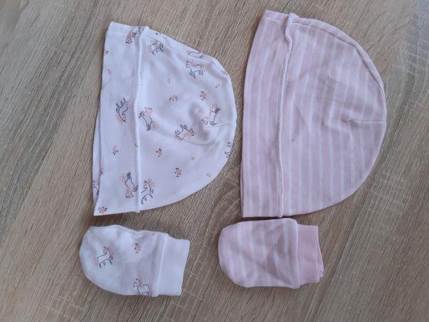 Шапочки, носочки, рукавички для новонароджених