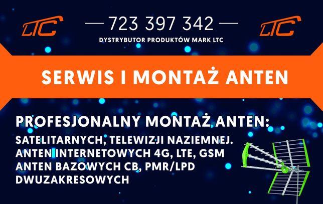 Montaż instalacja serwis anten telewizji satelitarnej naziemnej LTE