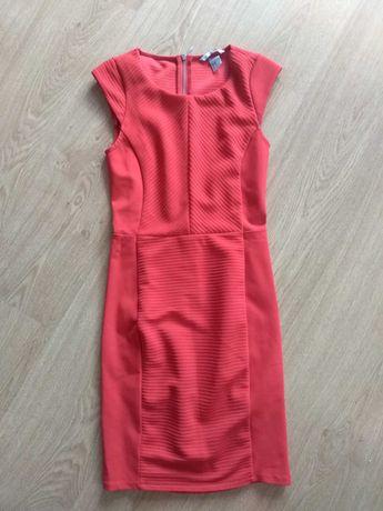 H&M czerwona sukienka xs