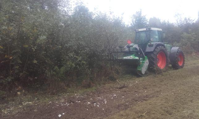 Koszenie traw zarośli czyszczenie działek mulczer leśny wycinka drzew