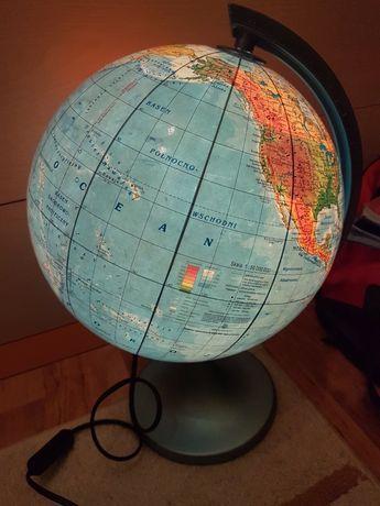 Duży podświetlany globus 25cm