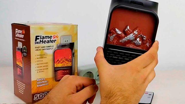 Экономичный обогреватель flame heater 500Вт с пультом