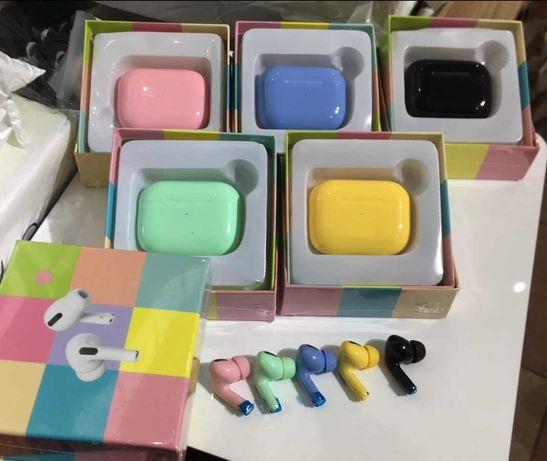 Беспроводные блютуз Наушники Pro серии цветные. Наушники для телефона