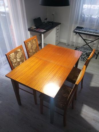 KOMPLET 4 krzesła + stół gratis Vintage!