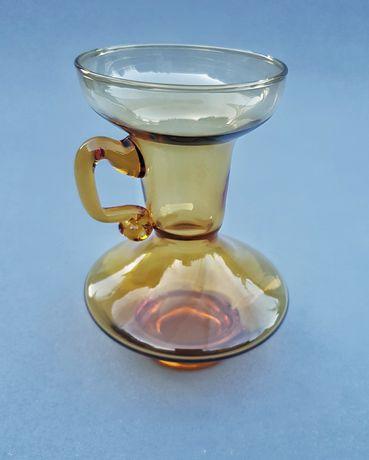 Miodowy miniaturowy dzbanuszek świecznik kaganek