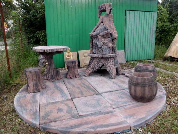 zestaw grillowy , grill ogrodowy betonowy , stół , patio