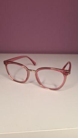 Oprawki okulary różowe Armani