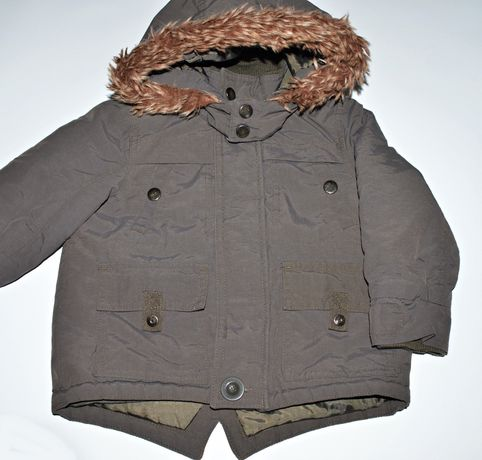 Kurtka zimowa parka khaki George 86 cm