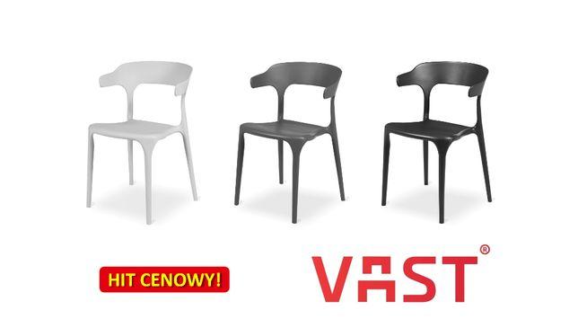 SIESTA biała krzesła do kawiarni i restauracji, krzesło kawiarniane