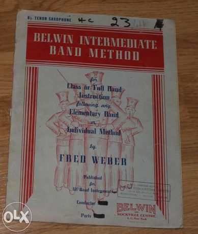 belwin intermediate band method tenor saxophone