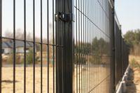 Panele ogrodzeniowe, Panel ogrodzeniowy wys.1,73m,fi4mm ANTR. I CZARNY