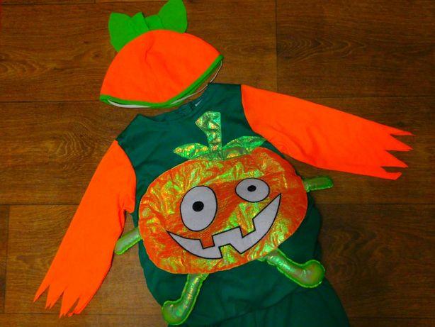 карнавальный костюм 18-24 мес Тыква Tesco мальчику 92 размер хэллоуин