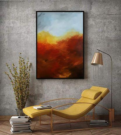 Obraz ręcznie malowany- pejzaż jesienny