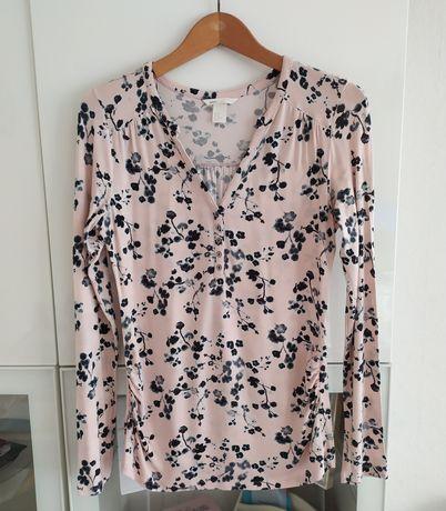 Bluzka ciążowa i do karmienia M H&M mama kwiaty kwiatki 38 ubrania