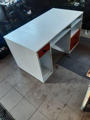Duze biurko do biura domu 140x74 szuflady