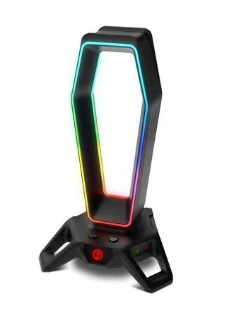 suporte p7 headset ozone Portal RGB Hub