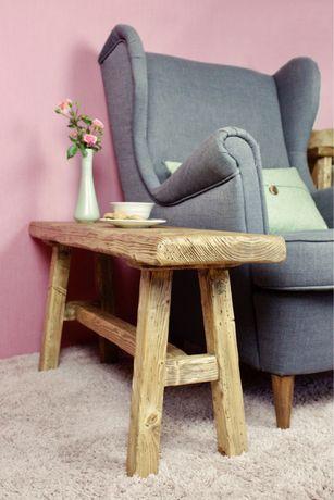 Ławka drewniana ława stołek kwietnik vintage rustykalny boho