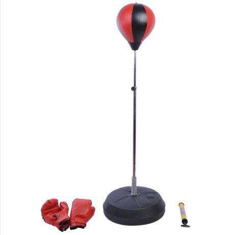 Gruszka bokserska dla dzieci, rękawice, pompka