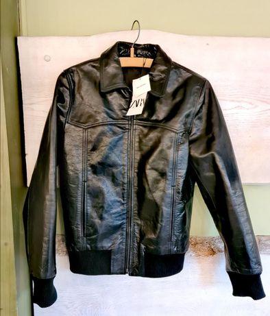 Продам демісезонну чоловічу шкіряну куртку ZARA. Нова!