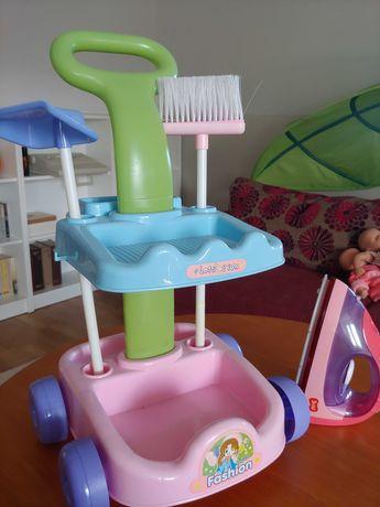Zestaw - wózek do sprzatania z rączką i żelazko Smiki na baterie