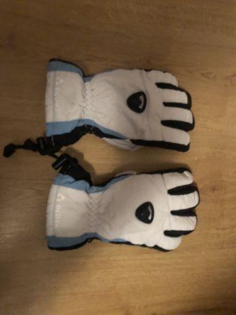 Rękawice narciarskie firmy active, biało niebieskie