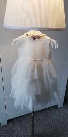 Sukienka do chrztu abracadabra 74 z dodatkami