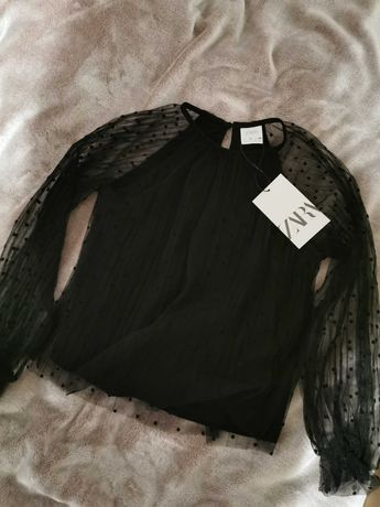 Bluzka tiulowa koszulka Zara. Nowa z metkami